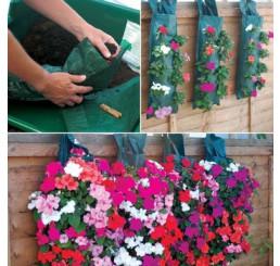 """Kvetinová taška na zavesenie """"Kaskade"""" + zavlažovač, malá, 5 otvorov do X, 34 x 23 cm"""