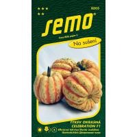 Cucurbita pepo / tekvica okrasná CELEBRATION F1, oranžová, tm. žíhaná, bal. 1 g
